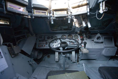 armored: armored military vehicle inside