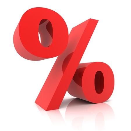 signos matematicos: 3d Muestra de porcentaje aislado en el fondo blanco