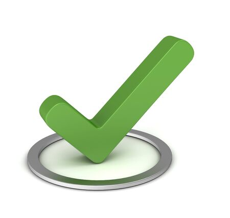 voted: check mark 3d illustration isolated on white background