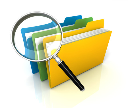 folder or file search 3d illustration isolated on white background
