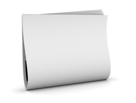 newspaper 3d illustration isolated on white background Standard-Bild