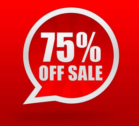 holiday profits: off sale badge 3d illustration isolated on  background