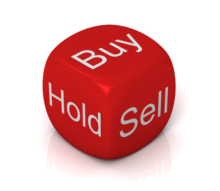 buy sell: buy sell hold cube 3d illustration isolated on white background Stock Photo