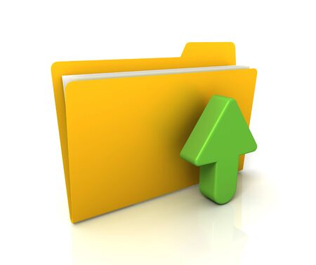 directory: upload file or folder icon 3d illustration isolated on white background Stock Photo