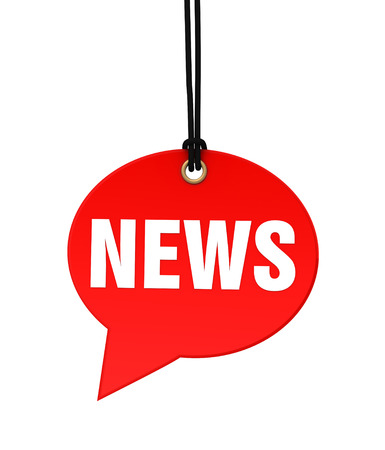 urgent announcement: news 3d illustration isolated on white background Stock Photo