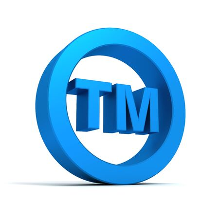 tm trade mark sign 3d illustration isolated on white background Stock Photo