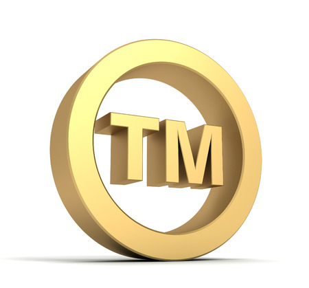 trade mark: tm trade mark sign 3d illustration isolated on white background Stock Photo