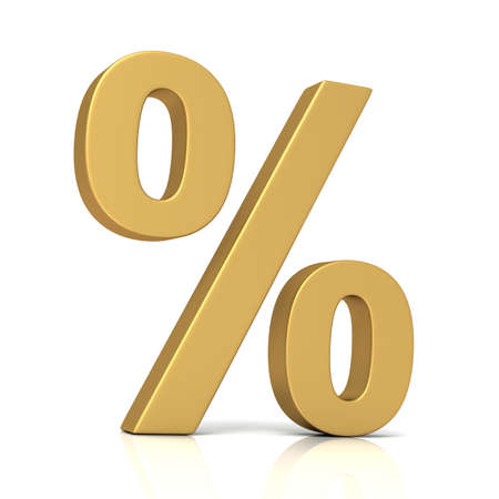 percentage sign: percentage sign 3d illustration isolated on white background