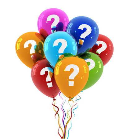 question balloon 3d 3d illustration on white  background