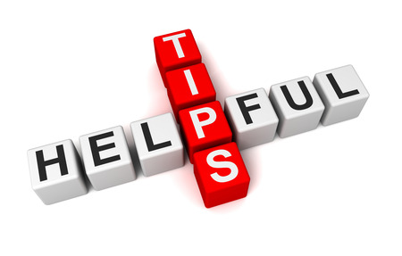 handige tips 3D-afbeelding op een witte achtergrond