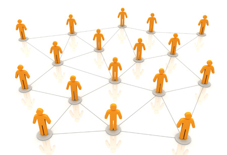 people network connections 3d illustration isolated on white background