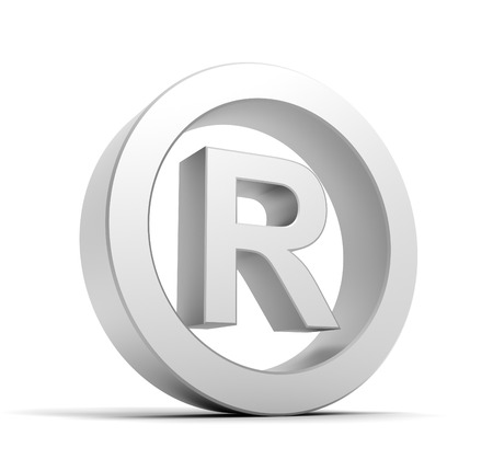 duplication: registered mark 3d illustration isolated on white background Stock Photo
