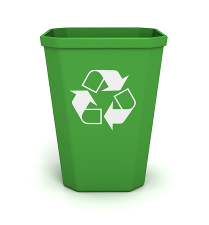 recycle bin 3d illustration isolated on white background Stock Photo