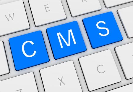 cms keyboard 3d illustration isolated on white background
