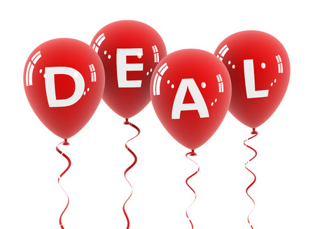 competence: deal balloon 3d illustration on white  background Stock Photo