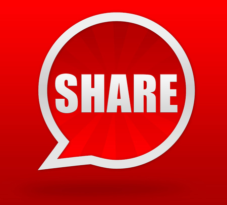 share prices: share badge 3d illustration isolated on  background