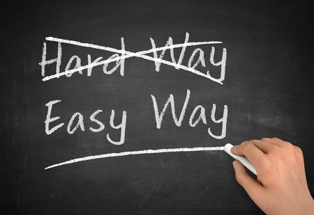 simplify: easy way chalkboard hand write 3d illustration