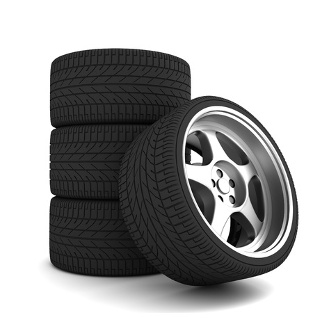 car tire: car tire 3d illustration isolated on white background