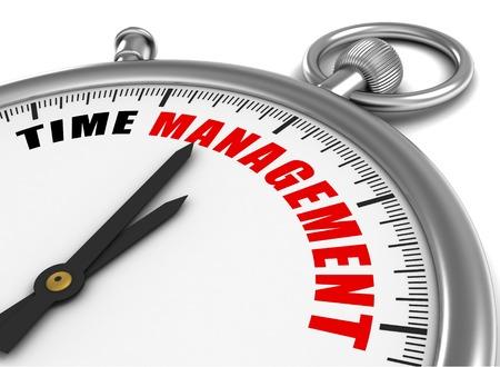 cronologia: time management clock 3d illustration isolated on white background