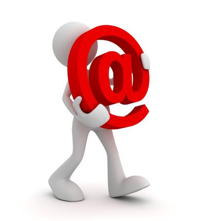 e mail symbol 3d illustration isolated on white background