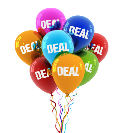 deal balloon 3d illustration on white  background Stock Photo