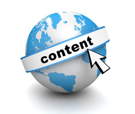 programing: content globe 3d illustration isolated on white background