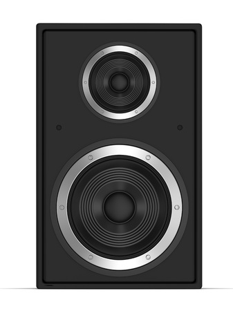 surround system: speaker front view 3d illustration isolated on white background