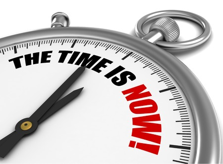 kudos: the time is now 3d illustration isolated on white background