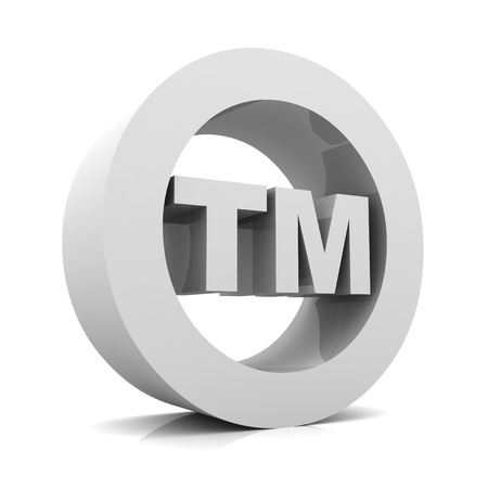 warrant: tm trade mark sign 3d illustration isolated on white background Stock Photo