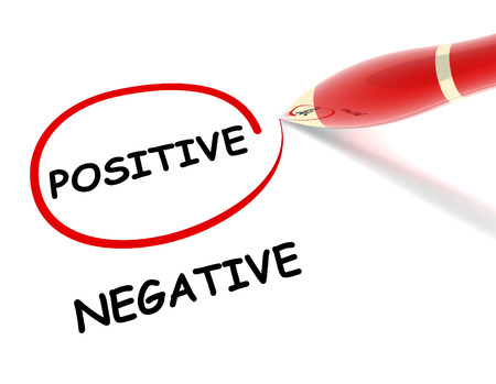 positive and negative: positive negative 3d illustration isolated on white background
