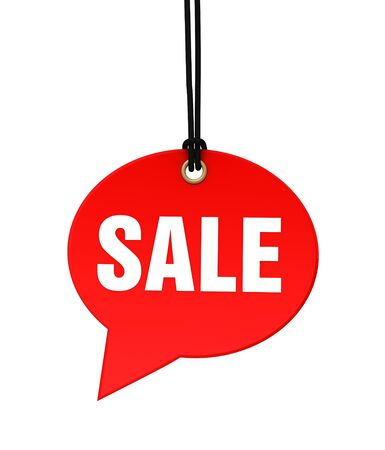 sale 3d illustration isolated on white background Stock Photo