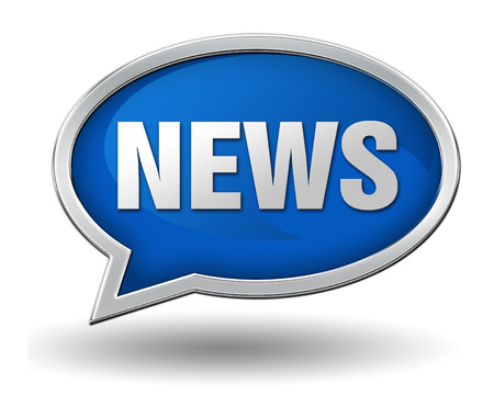 news badge 3d illustration isolated on white  background