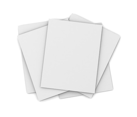 paper stack: paper stack 3d illustration isolated on white background