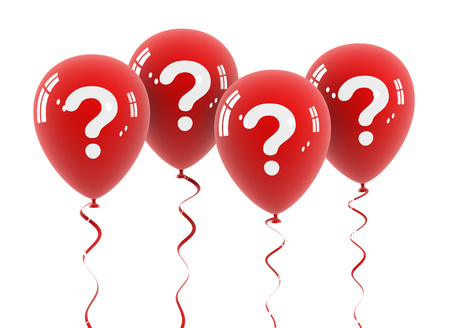 question balloon 3d illustration on white  background Stock Photo