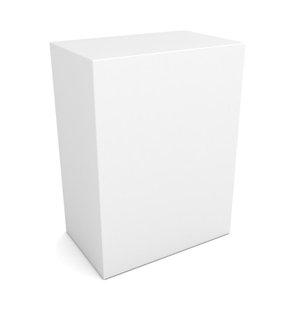 product box: blank retail product box 3d illustration isolated on white background