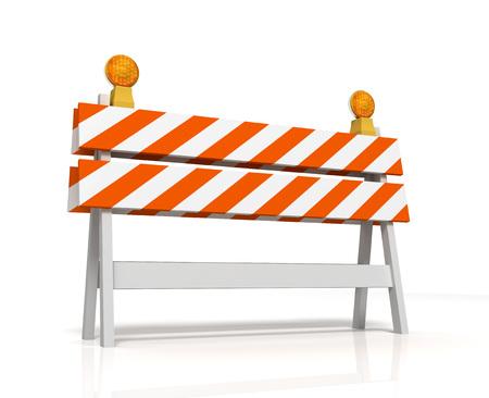 prohibited barrier 3d illustration isolated on white background