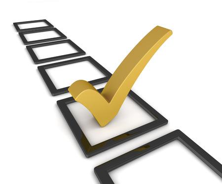 Checklist 3d illustratie geïsoleerd op een witte achtergrond Stockfoto