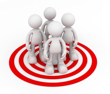 doelgroep 3D-afbeelding op een witte achtergrond