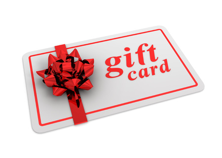 prepaid: gift card 3d illustration isolated on white background Stock Photo