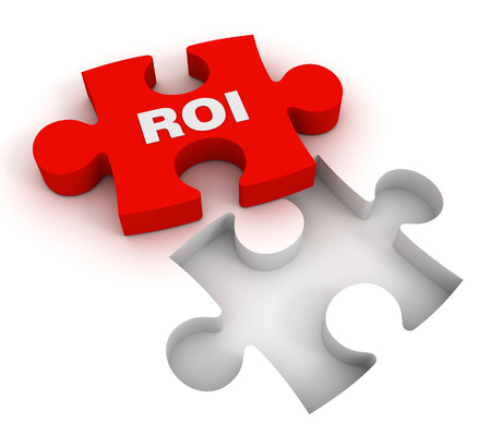 roi puzzle 3d illustration isolated on white background Reklamní fotografie