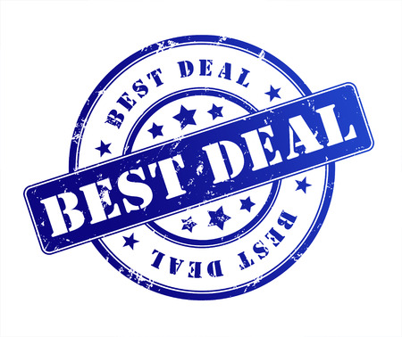 best deal rubber stamp illustration isolated on white background