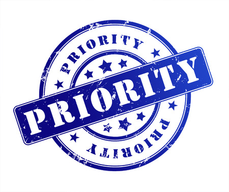 importance: priority rubber stamp illustration isolated on white background Stock Photo