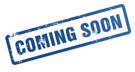coming soon rubber stamp illustration isolated on white background Stock Photo