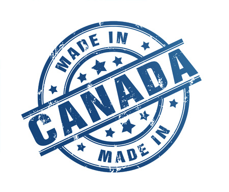 made in canada rubber stamp illustration isolated on white background