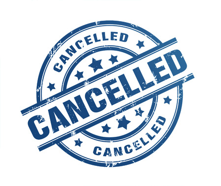 censure: cancelled rubber stamp illustration isolated on white background