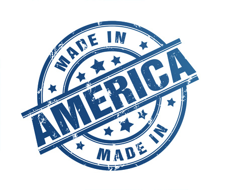made in america rubber stamp illustration isolated on white background