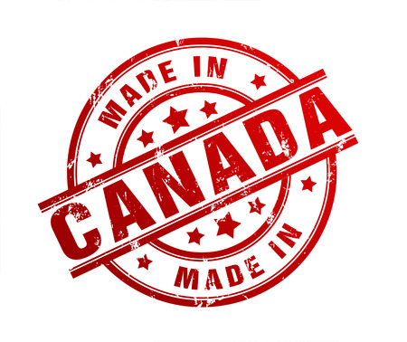 canada stamp: made in canada rubber stamp illustration isolated on white background