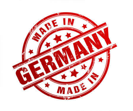 made in germany: made in germany rubber stamp illustration isolated on white background