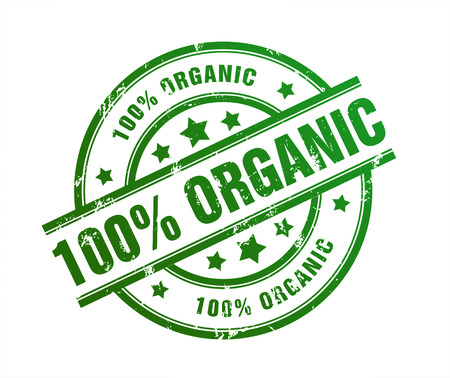 organic rubber stamp illustration isolated on white background Stock Photo