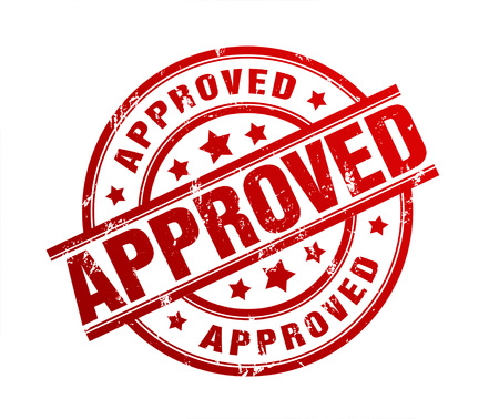 tried: approved rubber stamp illustration isolated on white background
